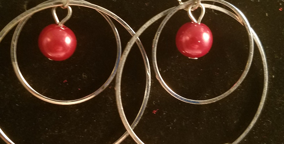 Red,white and Silver-Paparazzi Accessories- I am NOT a consultant