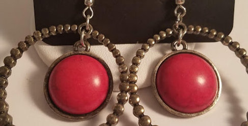 Red Crackle and Brass-Paparazzi Accessories- I am NOT a consultant