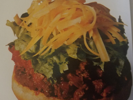 Written in food: Taco Burgers