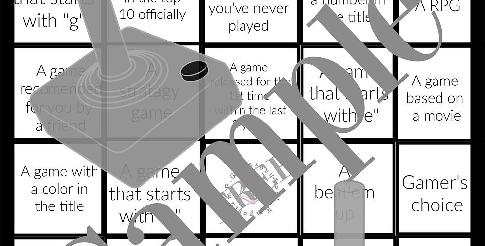 Video Game Bingo Game-Digital creation