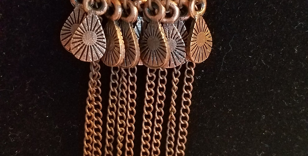 Brass triangle and tassel necklace-Paparazzi Acdessories- I am NOT a consultant