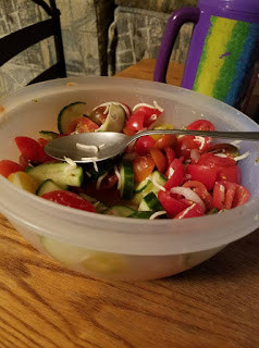 Written in food: Tomato and Cucumber Salad