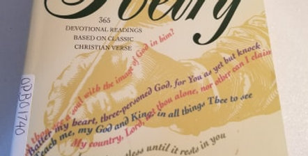 One year book of Poetry 365 devotional readings based on classic Christian verse