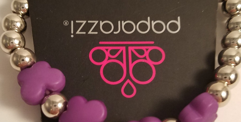 Purple Butterfly bracelet-Paparazzi accessories-I am NOT a consultant