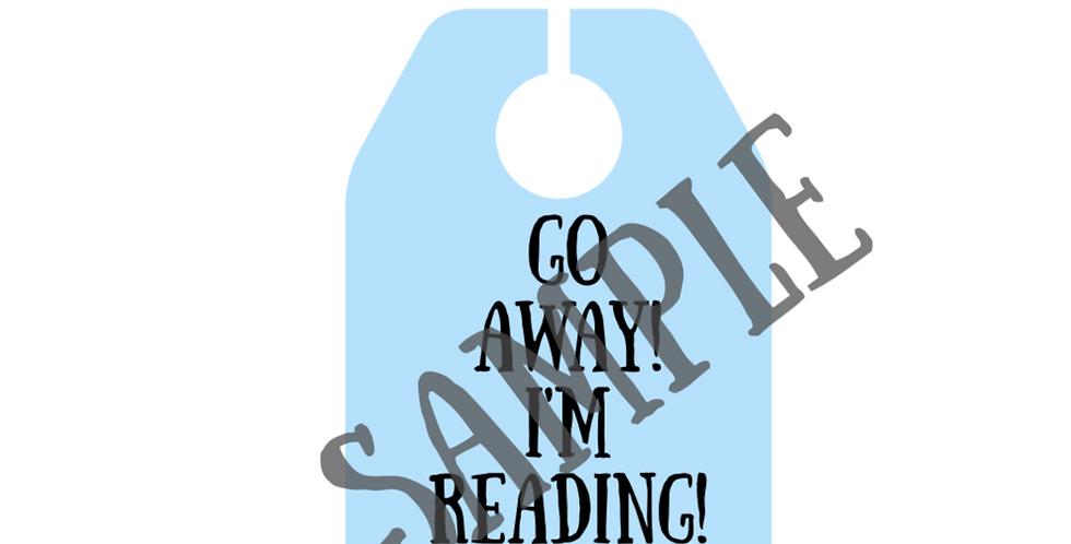 Go Away, I'm Reading Door hang-Digital Item