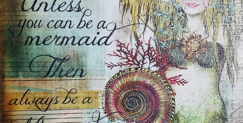 Always be yourself unless you can be a mermaid canvas art