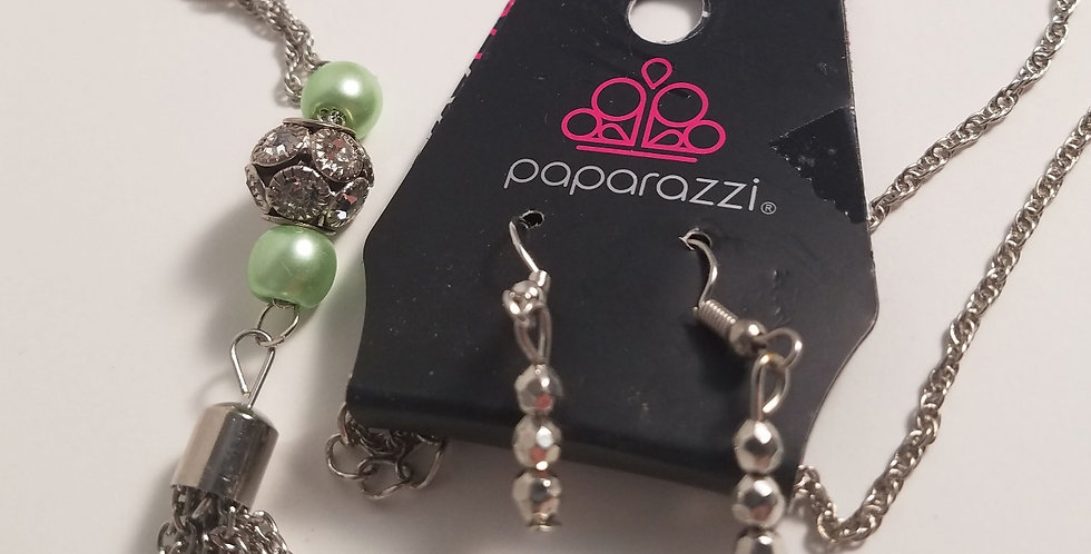 Century Shine Green-Paparazzi Accessories-I am NOT a consultant