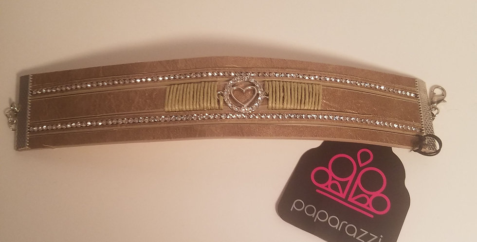 It takes heart Brown-Paparazzi Accessories-I am NOT a consultant