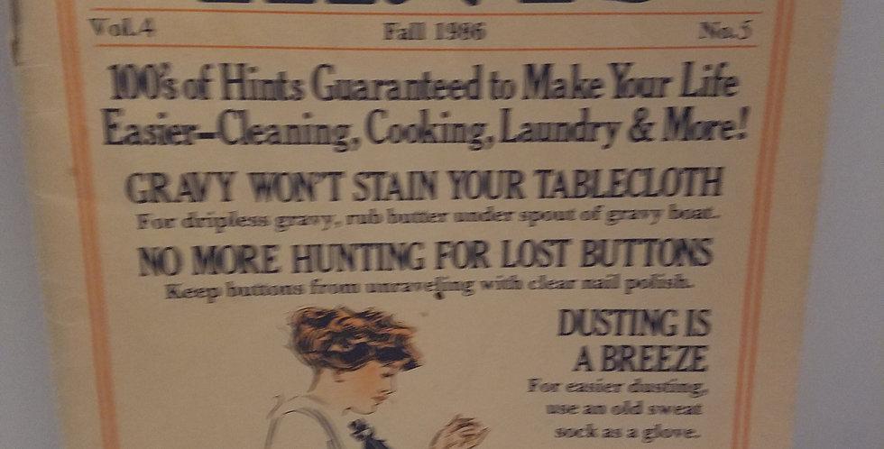 Households HINTS Vol. 4 No. 5 FALL 1986