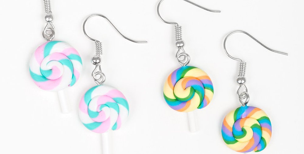 Lollipop Fishhook Earrings in Multiple Colors- I am not a consultant
