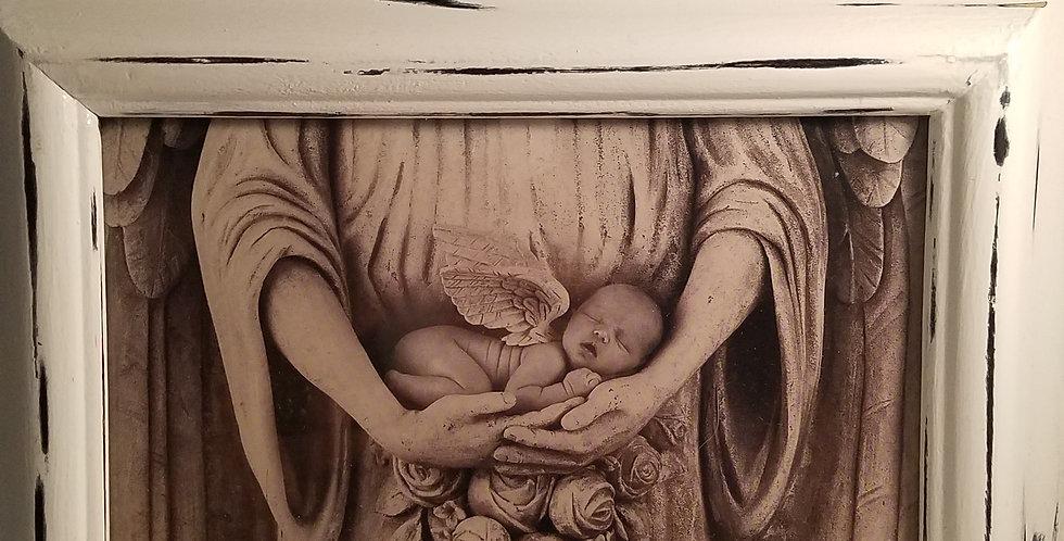 Anne Geddes Stone Angel art work in frame