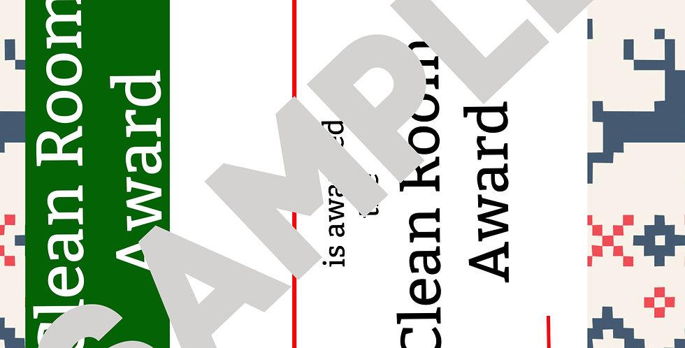 Clean room Certificate from Santa Printable image