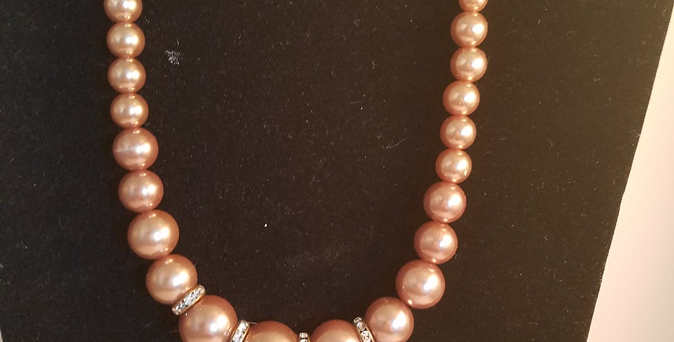 Brown pearl necklace- Paparazzi Accessories- I am NOT a consultant