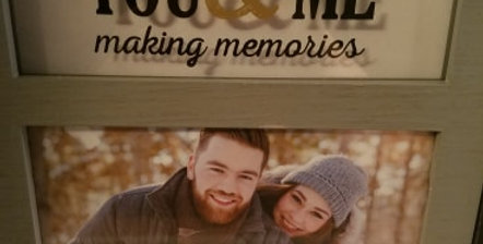 You & Me making memories frame (in box)