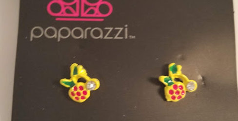 Pineapple Kids Earrings-Paparazzi Accessories-I am NOT a consultant