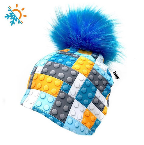 Tuque - Wuf Shop - Blue Lego