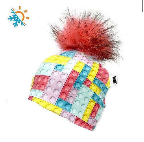Tuque - Wuf Shop - Pink Lego