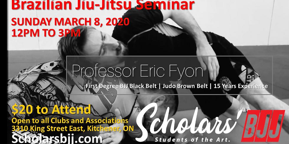 Professor Eric Fyon Seminar - Sunday March 8, 2020
