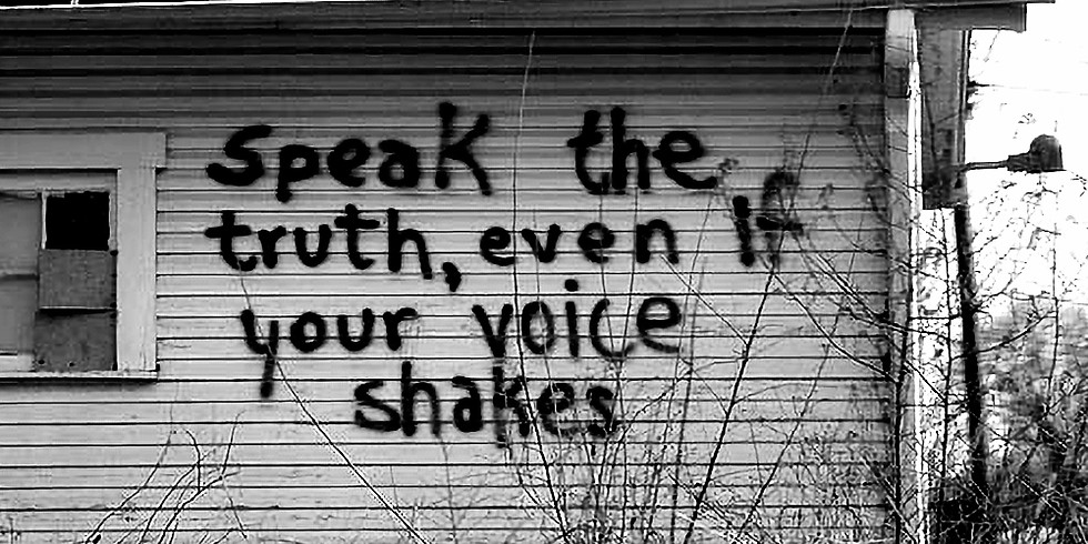 writing workshop - speak the truth, even if your voice shakes