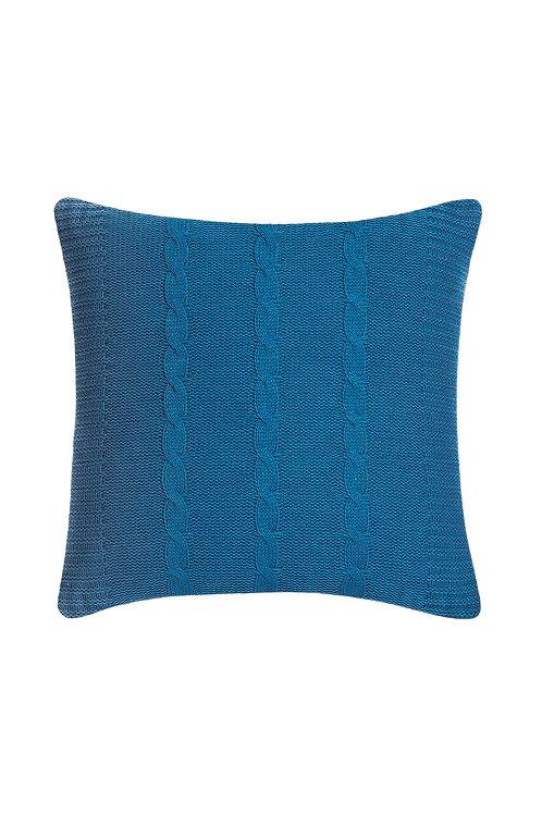 Tricot Pillow - 43x43 Cm - Fancy Blue