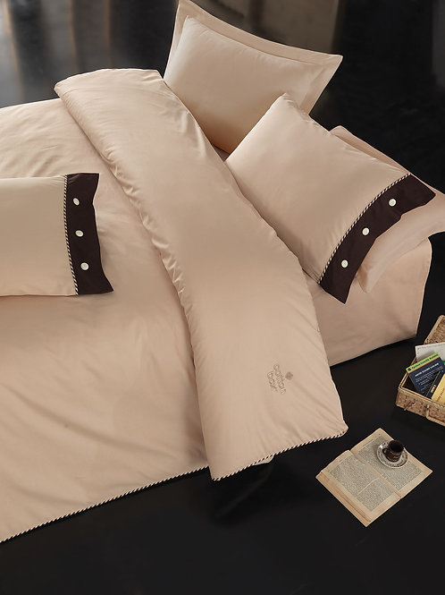 Cotton Box Ranforce Duvet Cover Set 135x200  Beige