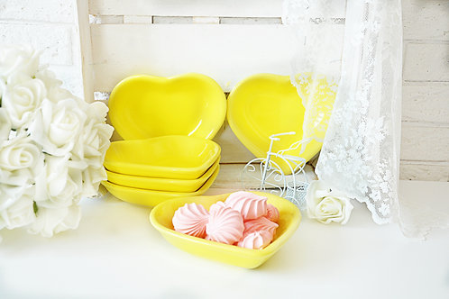 6 Pcs Snack Bowl Heart 13 Cm 100