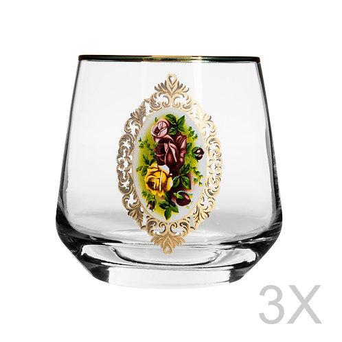 Lal 3 Pcs. Water Glass Set