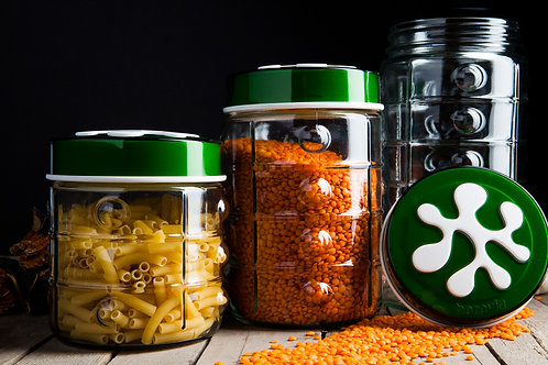 Herevin 3 Pcs Jar Set - Green