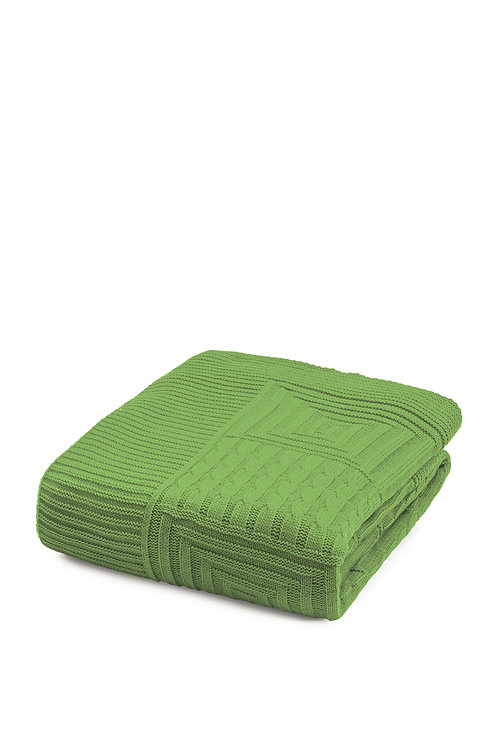 Tricot Blanket - 130x170 Cm-Natural Powder Green