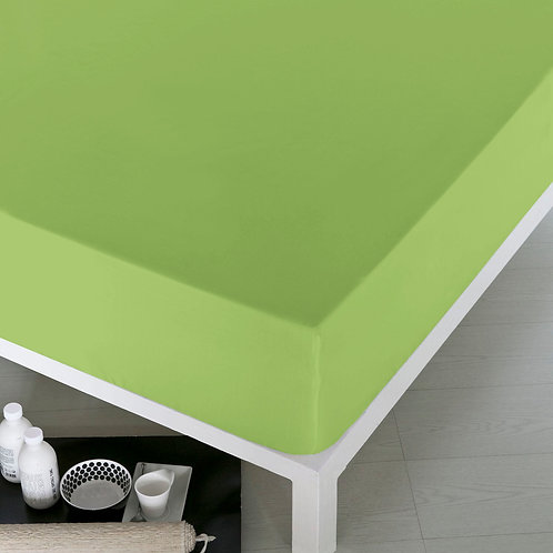 Home De Bleu Rnfrc Fitted Sheet 140x200 - Green