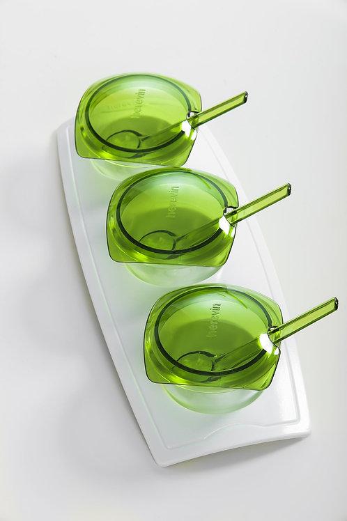 3 Pcs Melamine Set With Spoon