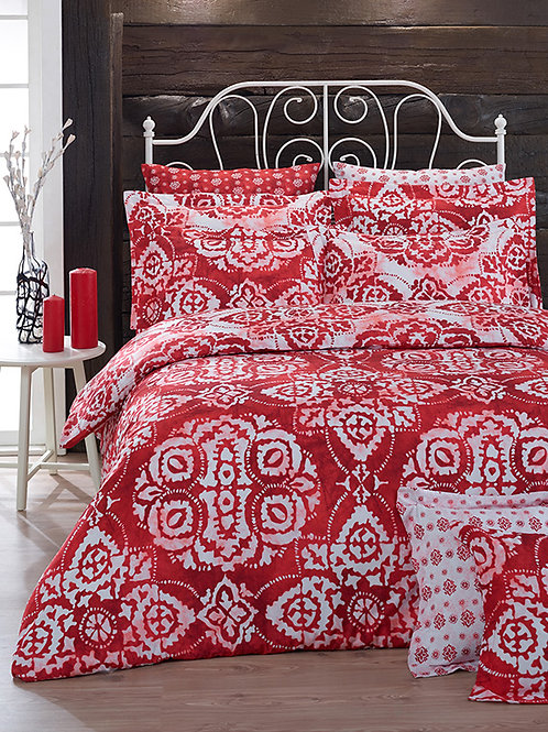 Clasy Cotton Duvet Sets - Batik Red