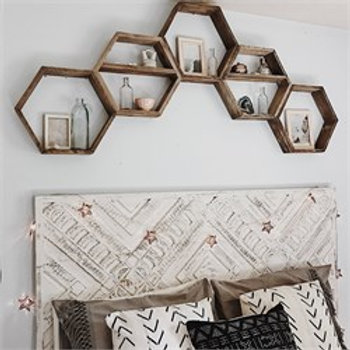 Dekorjinal Wooden 3 Pcs Wall Shelf Hex003