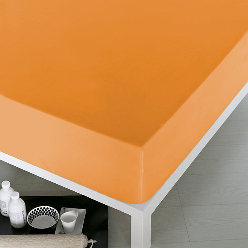 Home de Blue Fitted Sheet 100x200 Cm(Ak)Oranj(2Pcs
