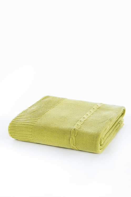 Tricot Blanket - 130x170 Cm-Fancy Pistachio Green