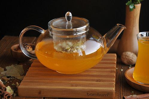 Taşev Mimosa Tea Pot With Strainer 800 ml - (T1617)