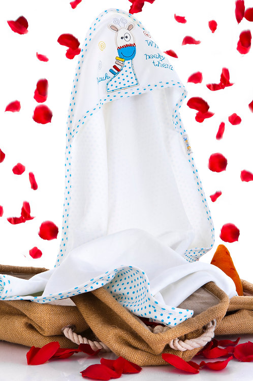 Agucuk Baby Spotted Graffe Embr. Combed Blanket 12