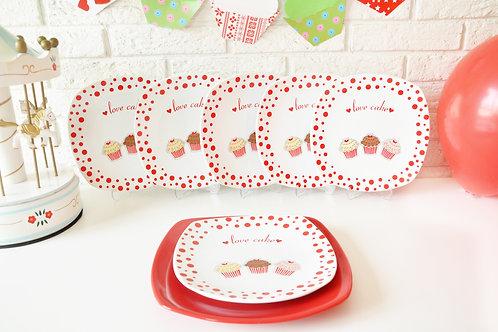 7 Pcs Cake Plate 506