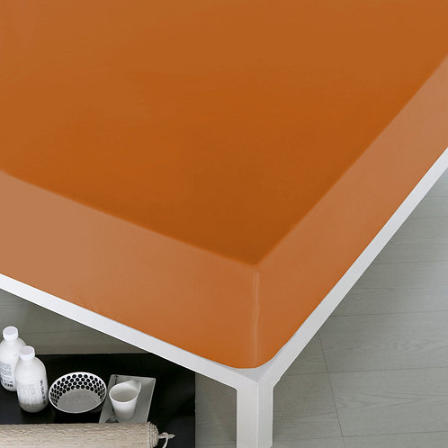 Home De Bleu Rnfrc Fitted Sheet 160x200 - Orange