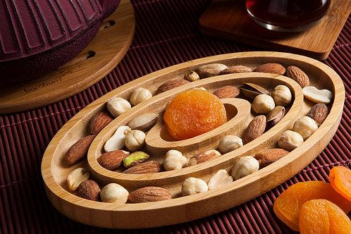 Bambum Fufu 3 Part Round Snack Tray