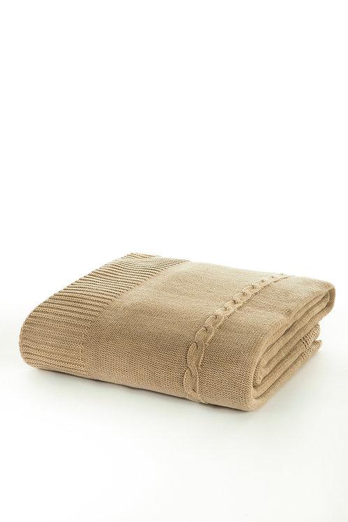 Tricot Blanket - 130x170 Cm-Fancy Beige