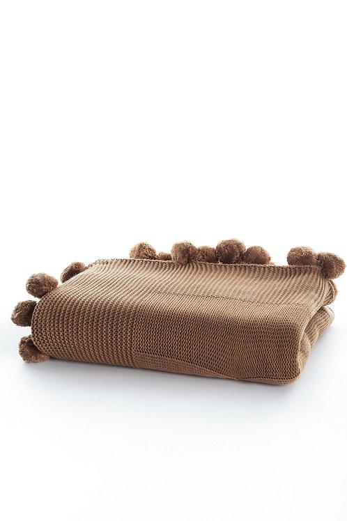Tricot Blanket - 130x170 Cm-Stylish Brown