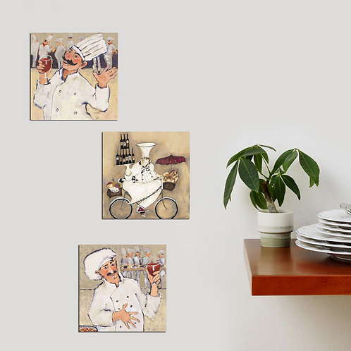 Dekorjinal 3 Pcs. Decorative Mdf Painting 3Bt023