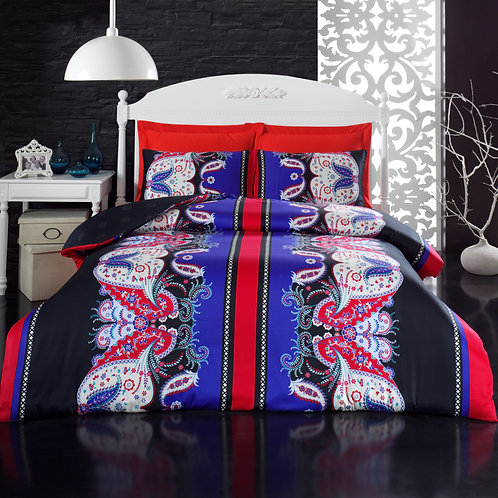 Clasy Cotton Duvet Sets - Yagmur Red