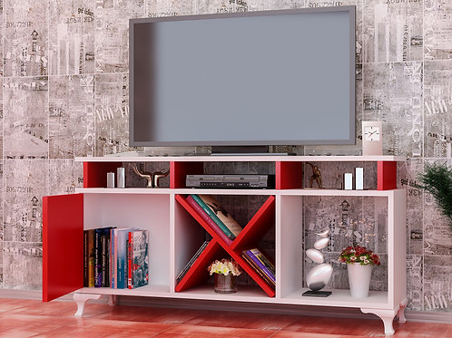 Ay Tv Stand Whıte-Red