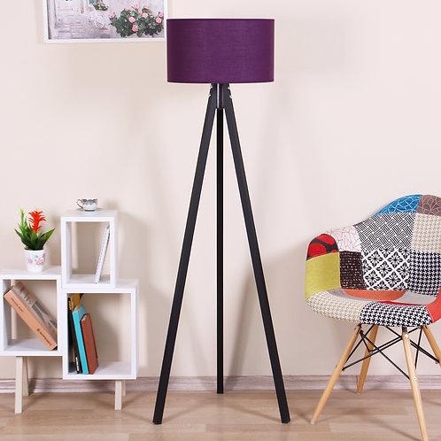 Kate Louise Floor Lamp-Celina  - Purple / Black
