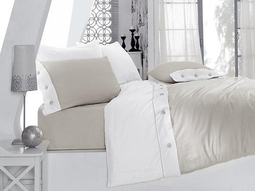 Cotton Box Fashion Satin Duvet Cover 135x200 Grey