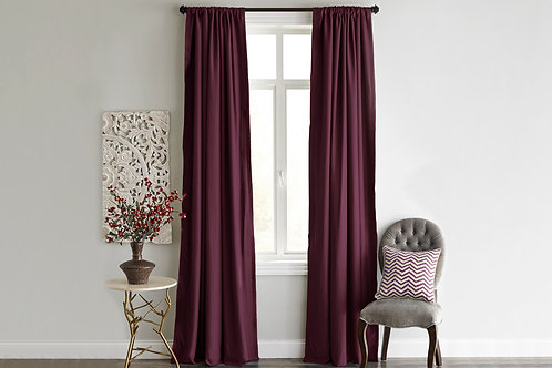 Home De Bleu Curtain 140x240 Cm (1 Pcs) - Burgundy