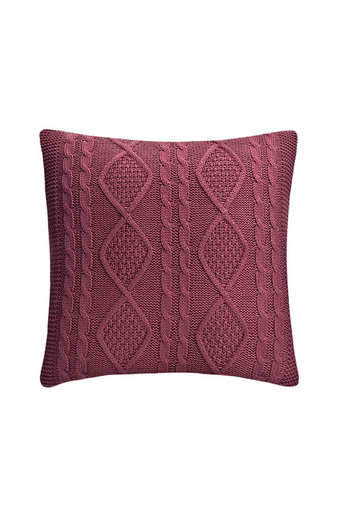 Tricot Pillow - 43x43 Cm - Kosem Purple