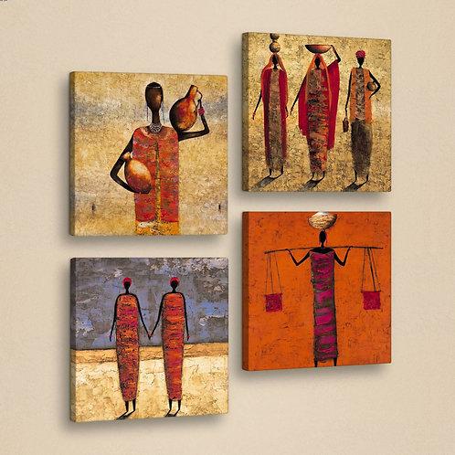 Dekorjinal 4 Pcs. Canvas Painting Set 4Kar029